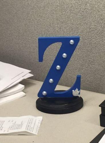 Zeta Phi Beta Inspired Desk Stand by RoyalBluetique on Etsy