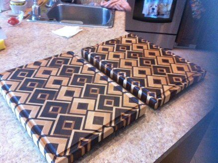 Another set of end-grain cutting board