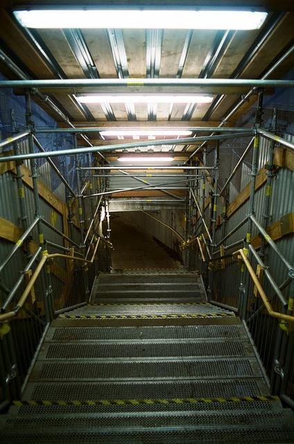 Stairs in U-bahnhof Gleisdreieck - Berlin II