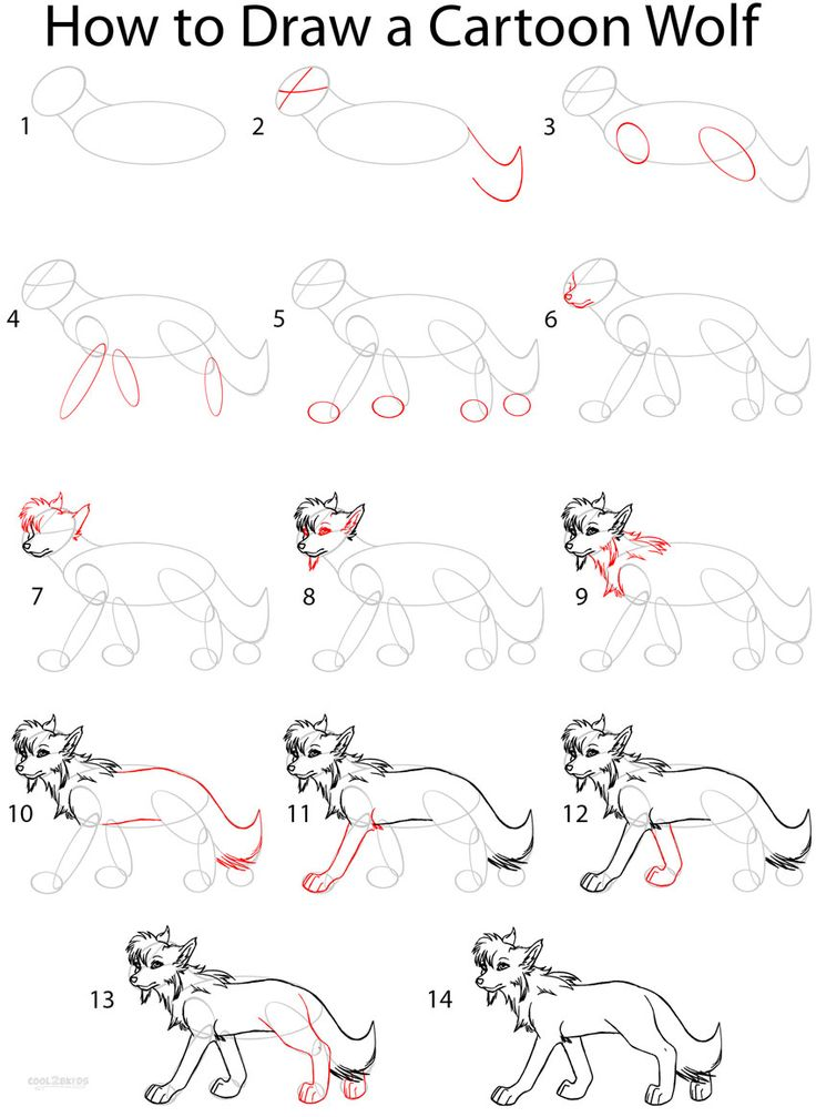 Best 25 cartoon wolf ideas on pinterest how to draw wolf wolf how to draw a cartoon wolf step by step drawing tutorial with pictures cool2bkids ccuart Image collections