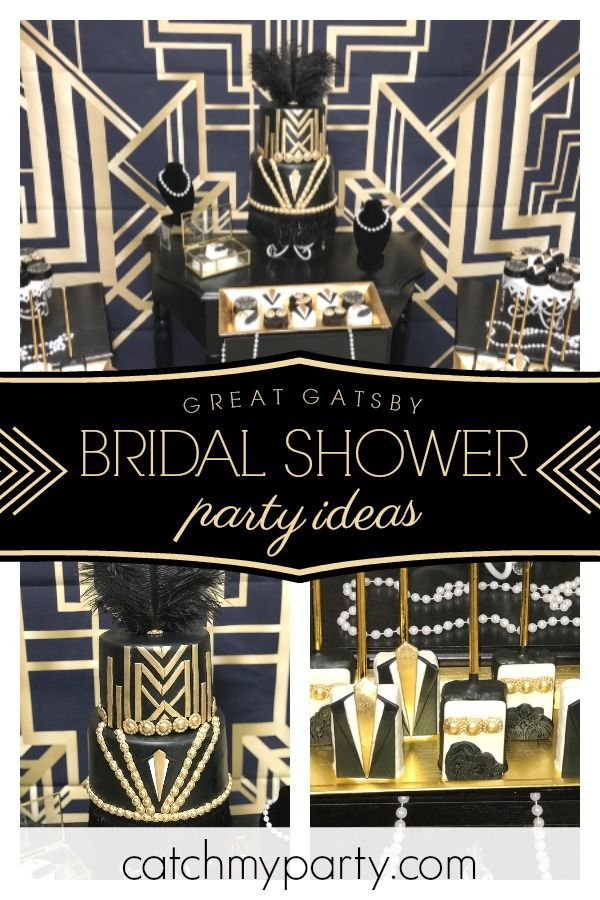 dont miss this incredible great gatsby themed bridal shower the cake is amazing see more party ideas and share yours at catchmypartycom catchmyparty