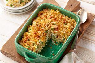 Casserole rapide au thon et au fromage - La boîte de thon vient à la rescousse du souper : préparez cette casserole réconfortante en 20 min !