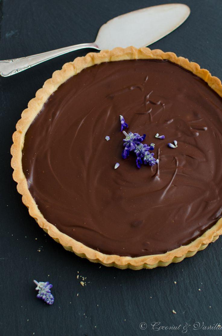 Schokoladentarte mit Crème fraîche nach Rachel Khoo