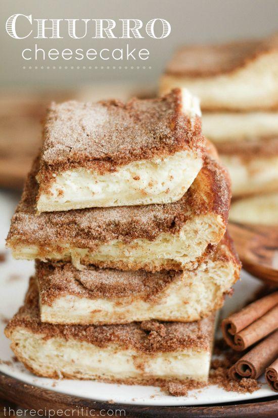 churro cheesecake - great dessert for tex-mex night