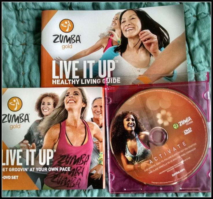 Zumba Fitness Live Dvd: Zumba DVD Lot ACTIVATE And Live It Up