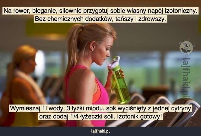 Napój izotoniczny domowej roboty - Na rower, bieganie, siłownie przygotuj sobie własny napój izotoniczny. Bez chemicznych dodatków, tańszy i...