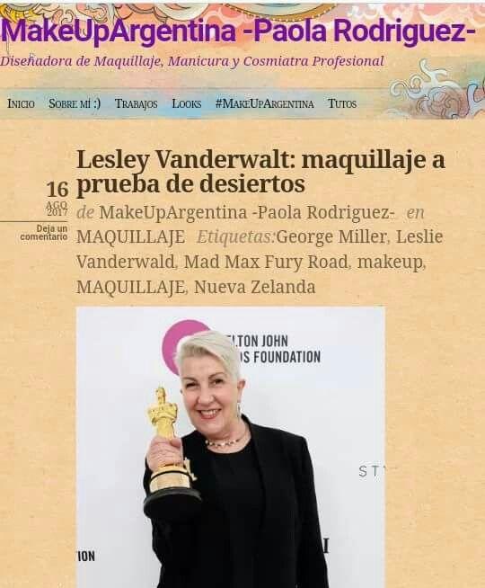El post de hoy es sobre el trabajo epico de la artista Lesley Vanderwalt en la película Mad Max Fury Road. Seguí el link para leerlo! ☺ https://makeupargentina.wordpress.com/2017/08/16/lesley-vanderwalt-maquillaje-a-prueba-de-desiertos/ ☺ #MakeUpArgentina #blog #maquillaje