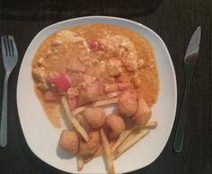 Rezept Huhn in Metaxa sauce fast wie beim Griechen;-) von JuliaBausE - Rezept der Kategorie Hauptgerichte mit Fleisch