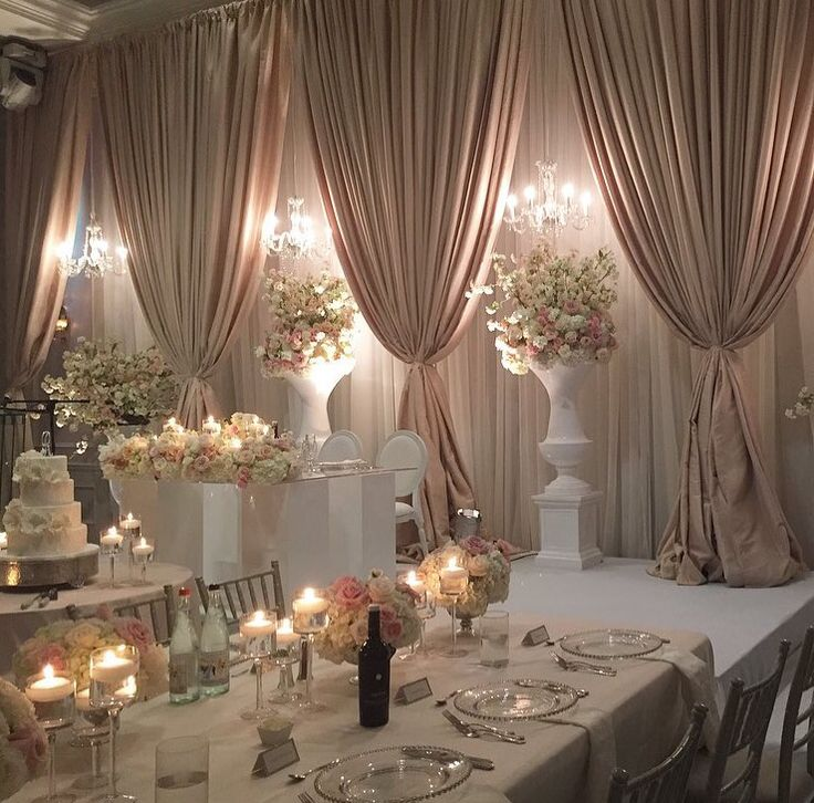 Wedding Head Table Decoration Ideas: 130 Best Images About Wedding Reception Halls Decor On