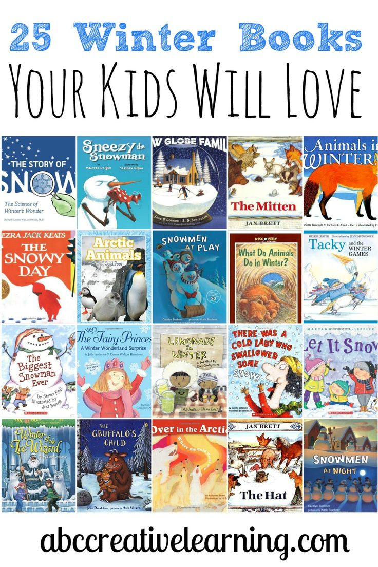 25 Winter Books Your Kids Will Love! Great to be used for Winter science activities as well. - abccreativelearning.com