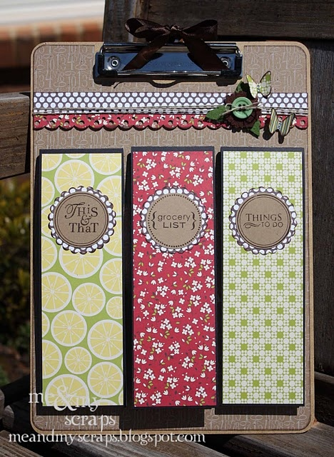 Great way to use up all of my clipboards...cute housewarming gift.