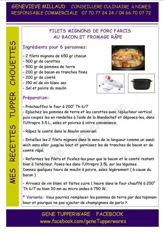 Tupperware - Filet mignon de porc farci au bacon et fromage rapé