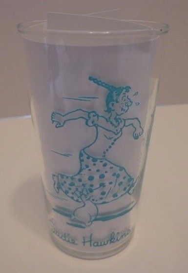 Vtg Sadie Hawkins Marrin Sam Federal Glass Tumbler