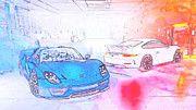 """New artwork for sale! - """" Porsche 918 Spyder Gt3 Blue by PixBreak Art """" - http://ift.tt/2m4FvSj"""
