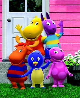 My boys LOVE these guys!! The Backyardigans by Nickolodeon: Uniqua, Pablo, Tyrone,