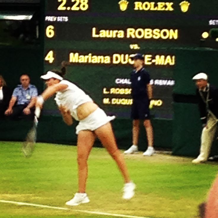 Laura Robson at Wimbledon 2013, we had great seats 7 rows from the front. Hope we get Wimbledon tickets again from the public ballot