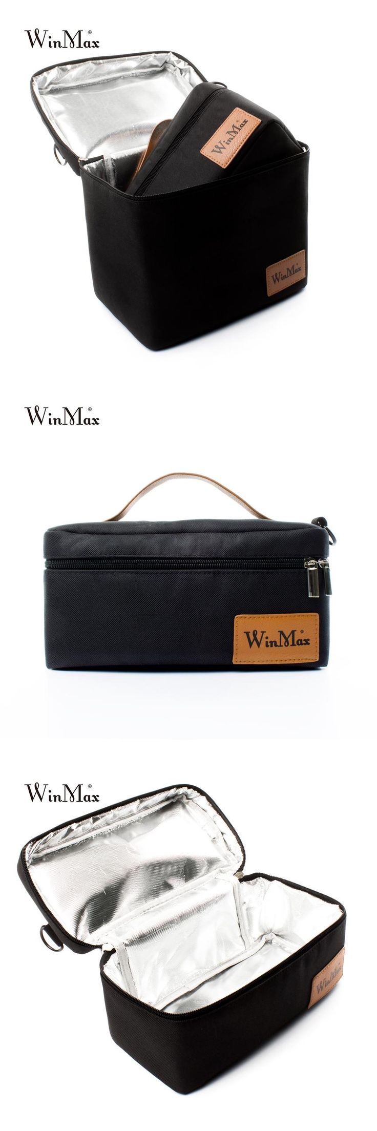 [Visit to Buy] Winmax Large Insulated Picnic ice Cooler Bag 2 sets pizza Cakes delivery black Lunch Bags Thermal Bags for Food basket Handbags #Advertisement