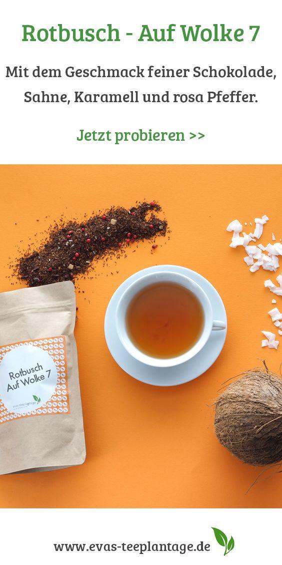 Rooibos-Tee mit dem Geschmack feiner Schokolade mit Sahne und Karamell.