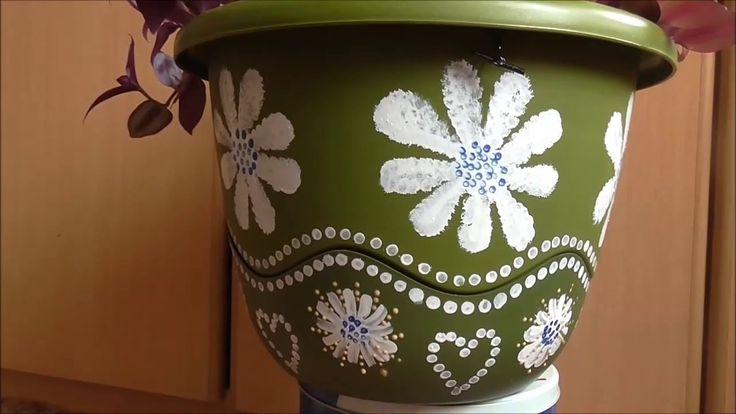 Jana Melas Pullmannová: Maľovaný kvetináč