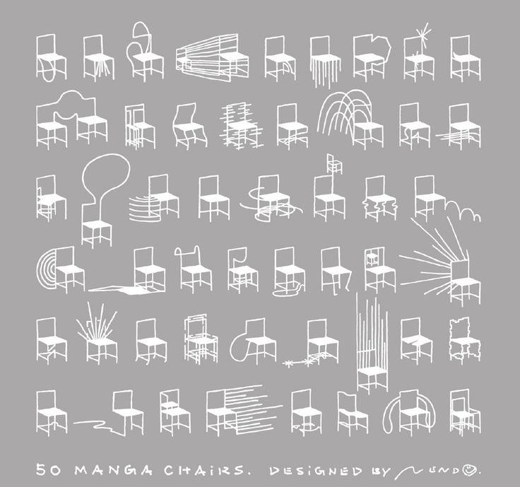 Great Nendo Designs 50 Chairs Based On Japanese Manga Comics