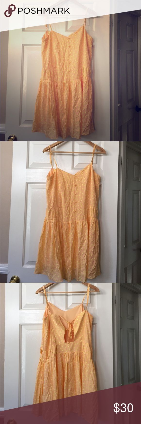BCBGeneration Orange Occasion Dress M Gently Preloved BCBGeneration Dresses