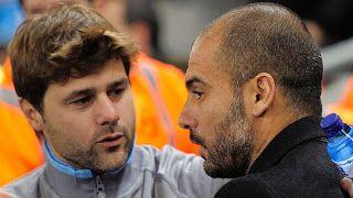 Pochettino (kiri) dan Pep Guardiola/www.espnfc.com     Bukan pertandingan biasa. Setidaknya itu k...