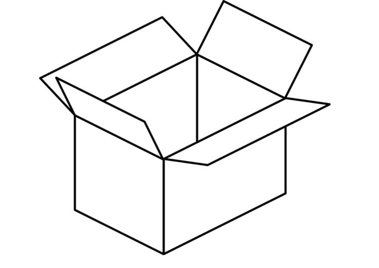 Kleurplaat doos