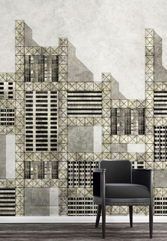 """Metallic city"", WallPepper® Trend_line, Geometric Collection"