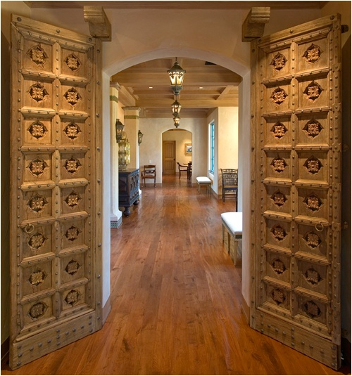love antique Indian doors in modern homes | Indian doors