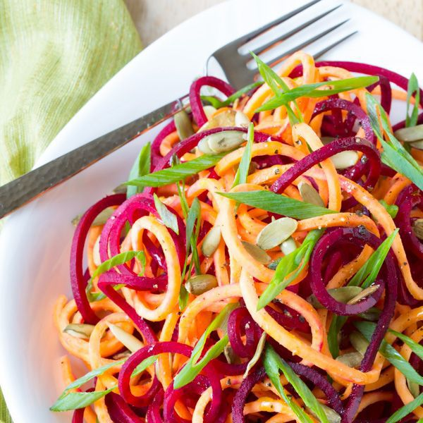 10 Crazy Colorful Spiralized Salads for Summer | Brit + Co