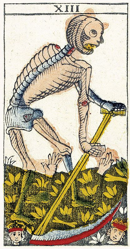 Tarot de Marseille Heritage - Pierre Madenié, Dijon 1709 - La Mort