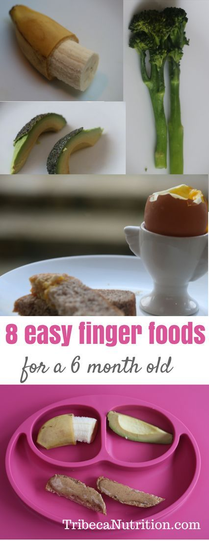 8 easy and nutritious finger foods for baby led weaning and introducing solids. Perfect for little fingers!