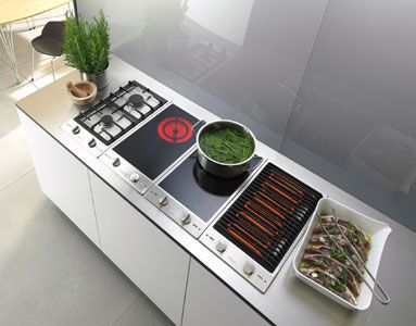 Individual cooktops by Miele. Gas CombiSet (): 2 gas. Induction CombiSet (): 2 induction. Available in the US.