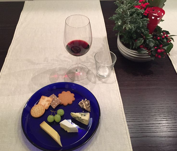 Christmas cheese plate with Amarone