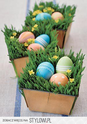 Wielkanoc na Stylowi.pl: Handmade Nests, Easter Tables, 15 Easter, Easter Decor, Tables Centerpieces, Simple Tables, Easter Eggs, Easter Baskets, Easter Ideas