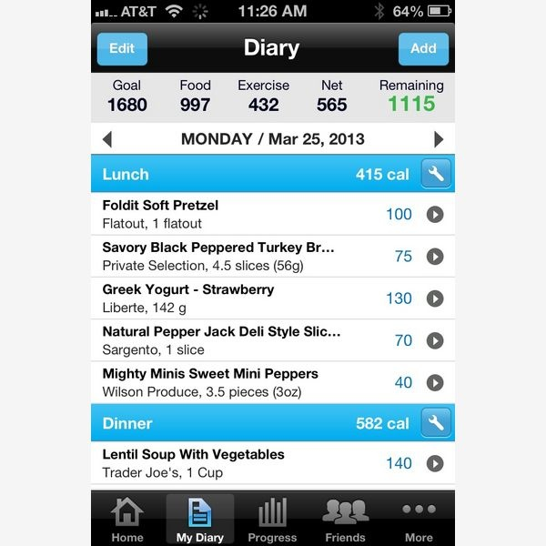 Best Calorie And Food Planning App