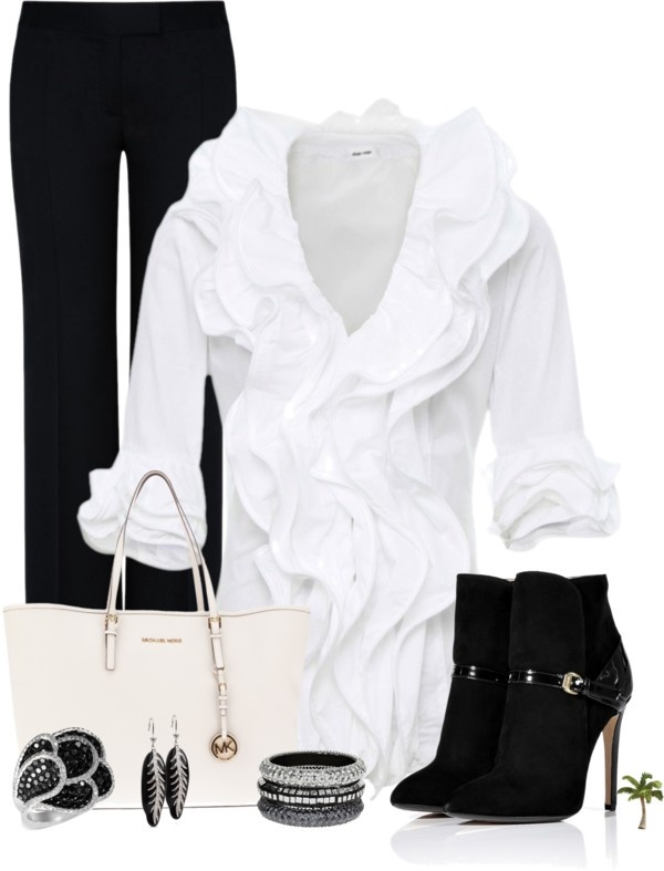 """""""Black and White Contest"""" by cindycook10 on Polyvore (I wore this to a Def Leppard concert in the 90's!)"""