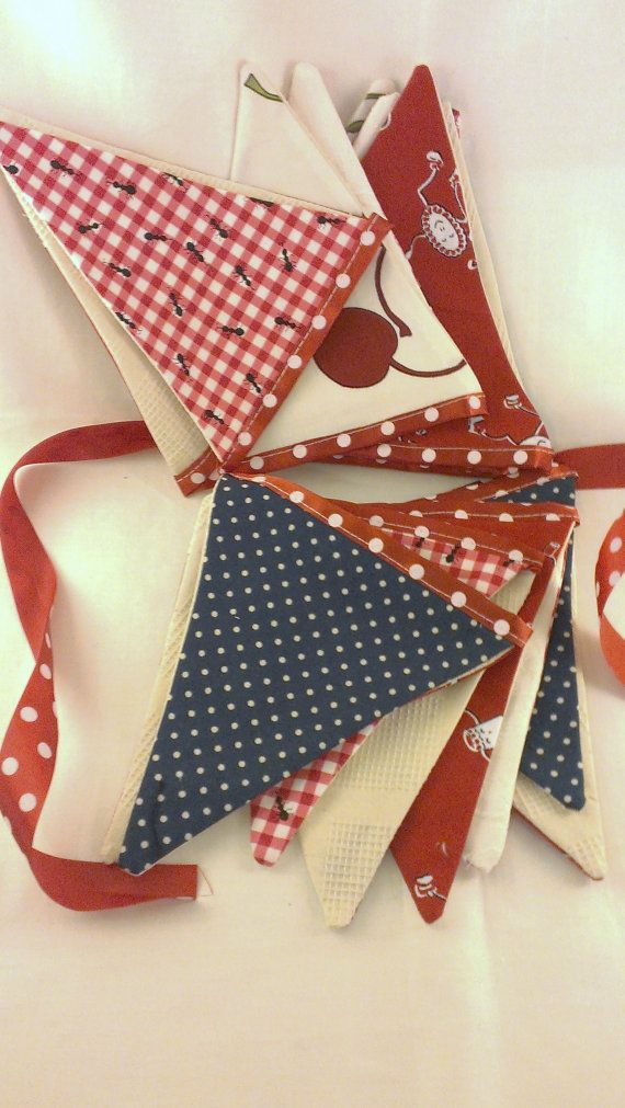 Rockabilly Wedding Bunting Party Banner Red and by BeatnikBride