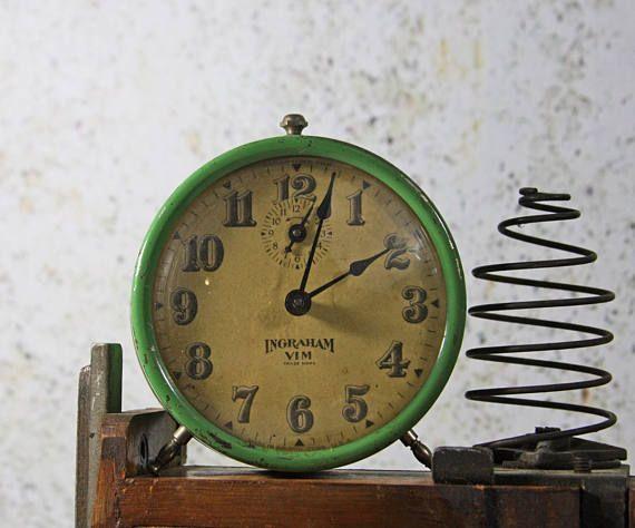 Vintage Ingraham Vim Alarm CLOCK Non working Retro Decor