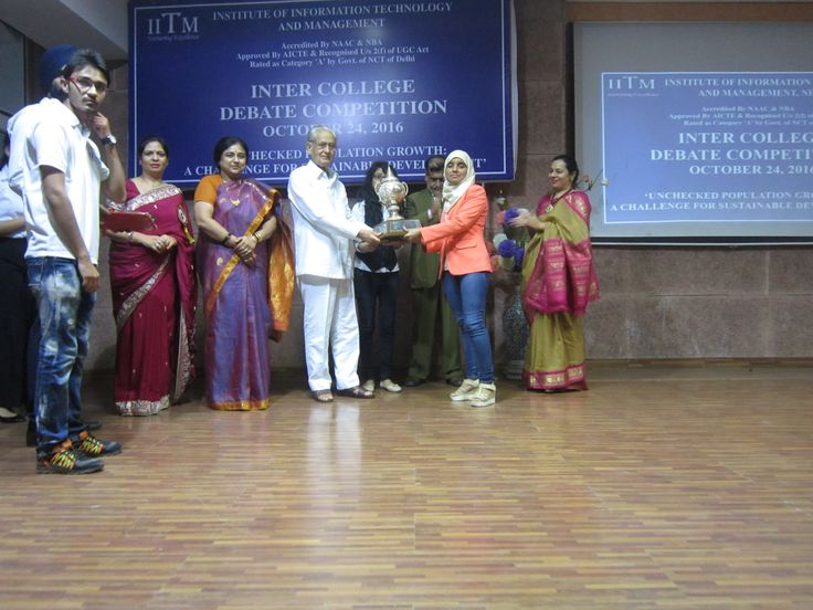 """IITM organized an Inter College debate competition on October 24, 2016 in the institute's auditorium. The topic for the debate was """"UNCHECKED POPULATION GROWTH: A CHALLENGE FOR SUSTAINABLE DEVELOPMENT"""". 23 teams participated in the competition from different colleges and universities in and around Delhi."""