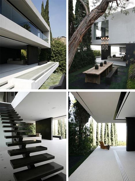 True to its name, the Open House by Xten Architecture is incredibly spacious inside and has innumerable amazing views out onto the surrounding landscape from its luxurious Hollywood Hills vantage point. Sharp angular lines define the house in space from the outside but also direct viewers to loo ...