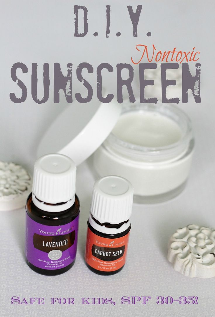Super easy DIY to make your own safe, nontoxic sunscreen using essential oils and natural products!