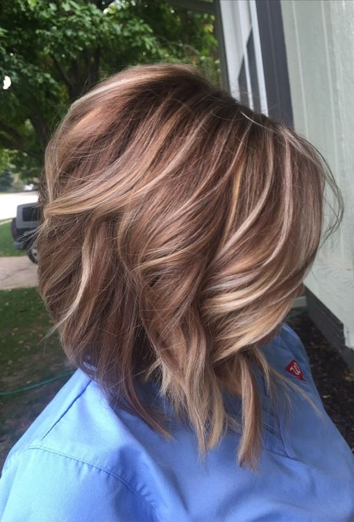 blonde highlights and light brown