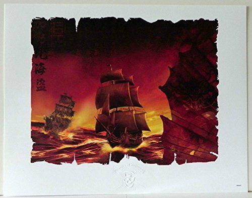 DISNEY PIRATES OF THE CARIBBEAN SHIP LIMITED RELEASE EMBOSSED LITHOGRAPH w/COA @ niftywarehouse.com #NiftyWarehouse #PiratesOfTheCarribbean #Pirates #Movies #Pirate