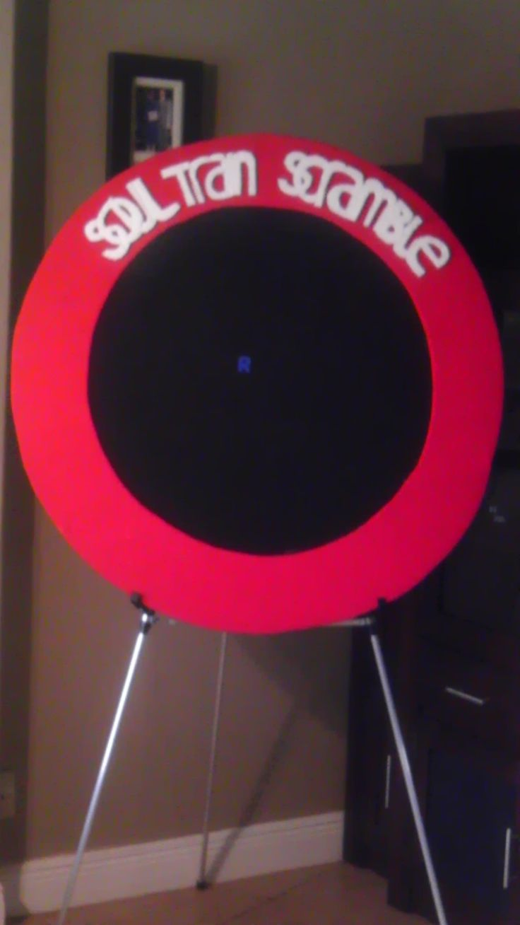 Soul Train Scramble Board! Sorry guys, for the lateness. Description: Red felt to cover cardboard rim, black felt to cover circular wood board, sticky foam letters, drew name on cardboard in resembling font- cut out an attached...