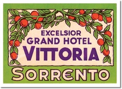 Grand Hotel Excelsior Vittoria, old label