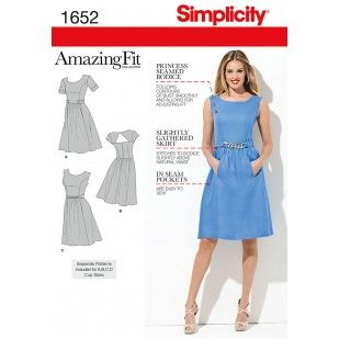 Simplicity 1652, move pockets to side seams, make pleats instead of gathers - maybe cut front skirt panel in one piece?