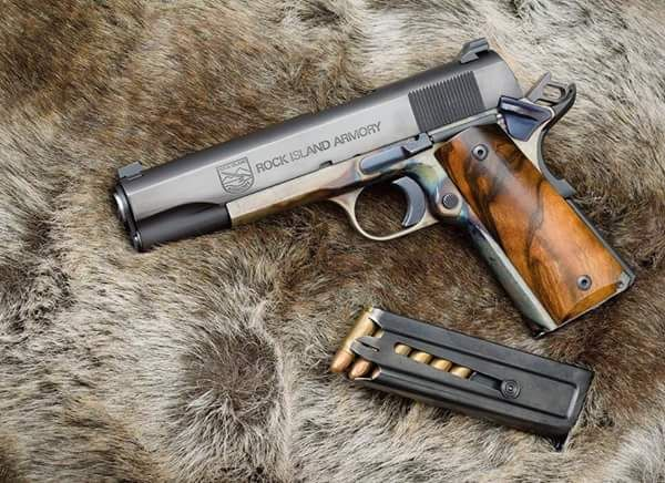 Guns, Oil, & Dirt | Rock Island Armory 1911 with color case hardened...