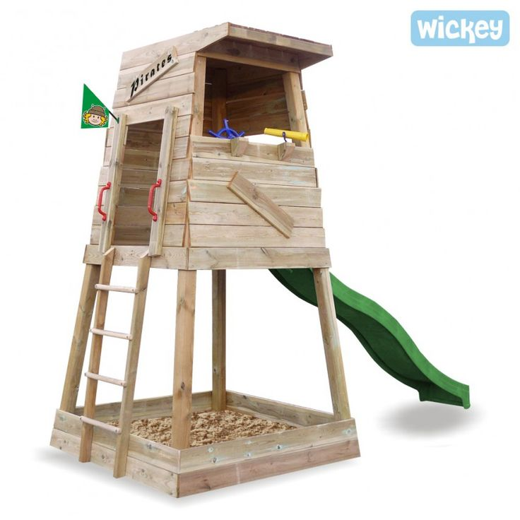 Play tower WICKEY Pirates Nest, garden play centre 605 Wicked