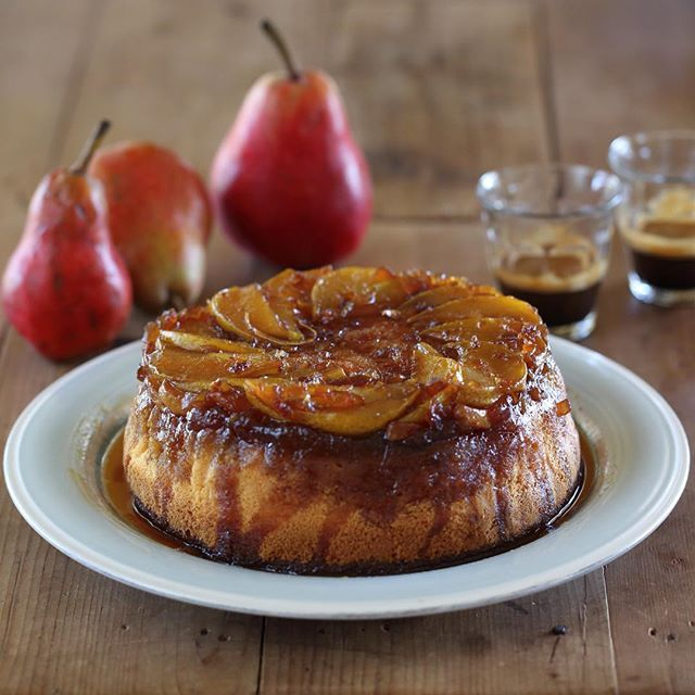 Pear and Ginger Upside Down Cake - Maggie Beer